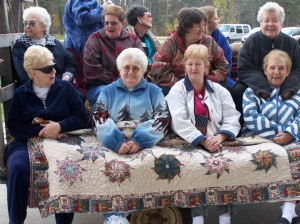 Women at a Quilting Retreat