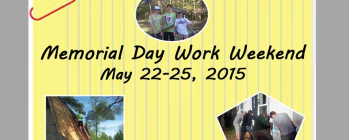 2015 Memorial Day Work Weekend